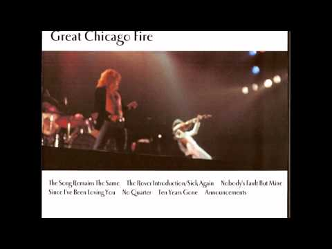 LED ZEPPELIN THE GREAT CHICAGO FIRE 1977/04/09