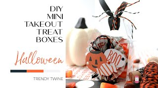DIY Halloween Mini Takeout Treat Boxes