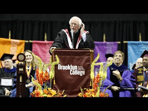 Senator Bernie Sanders Delivers Keynote Address at Brooklyn College Commencement