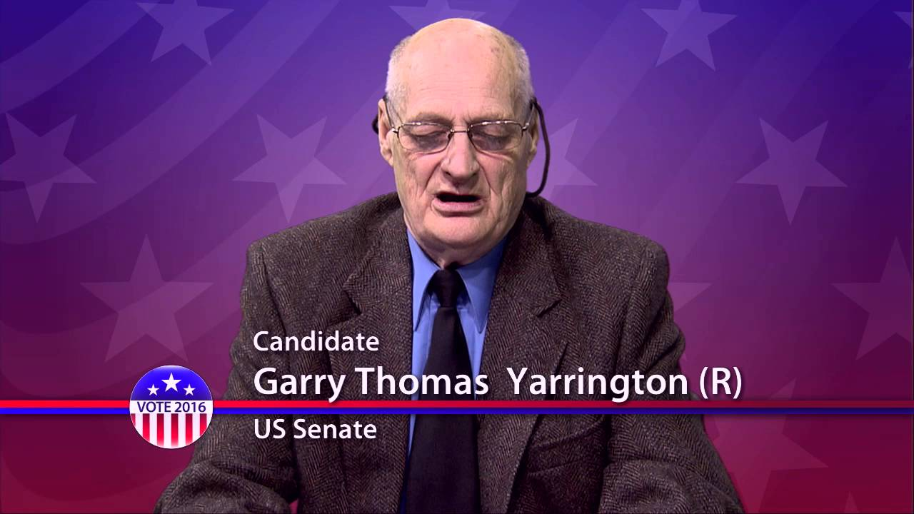 garry thomas yarrington r candidate for u s senate from garry thomas yarrington r candidate for u s senate from maryland primary election