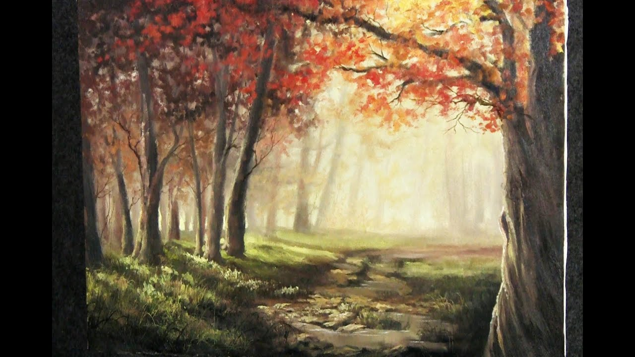 Autumn Sunlight Paint With Kevin Hill Youtube