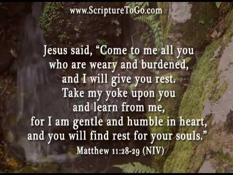 Matthew 11:28-29 - YouTube
