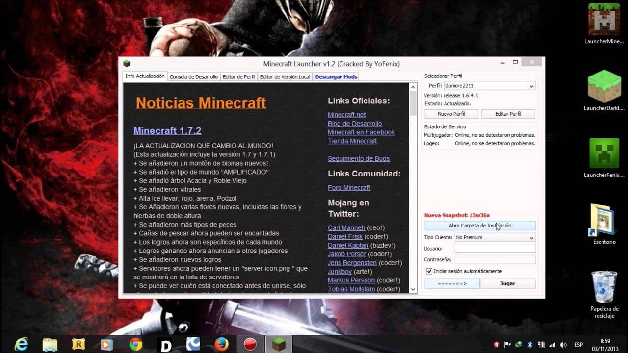 LauncherFenix 4.1 Minecraft 1.8.8 |Premium - No Premium ...