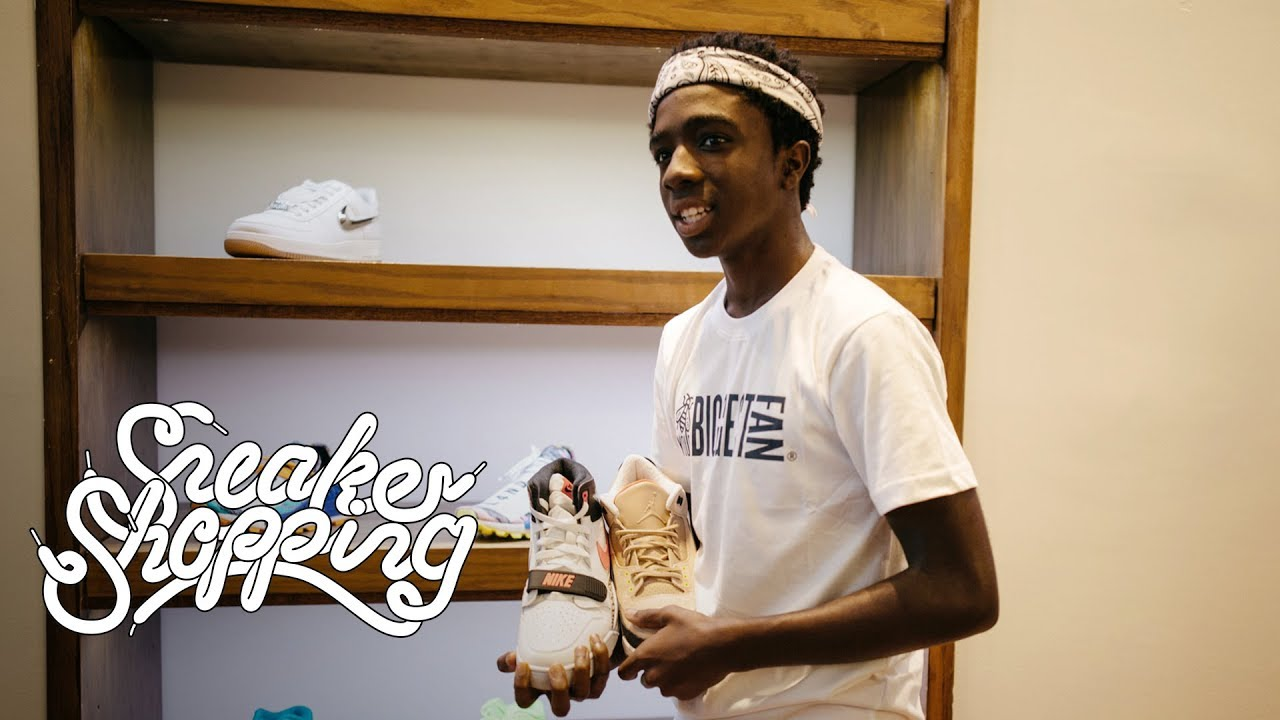 Stranger Things  Caleb McLaughlin Goes Sneaker Shopping With Complex ... d8a6b6877