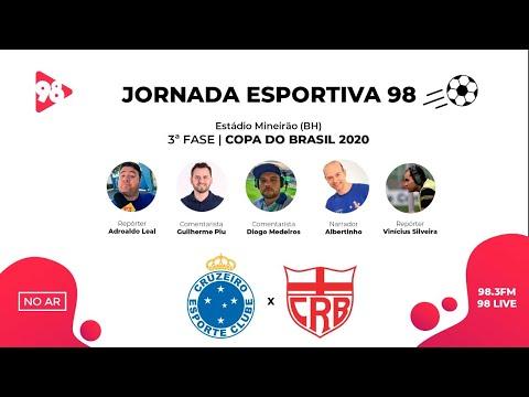 CRUZEIRO X CRB | COPA DO BRASIL | RÁDIO 98FM AO VIVO