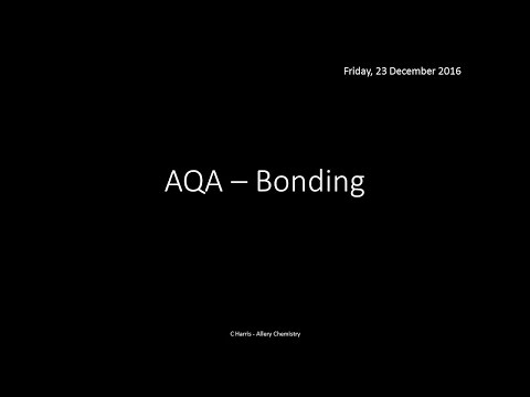 AQA 1.3 Bonding REVISION