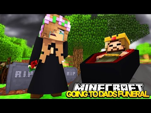 LITTLE KELLY PLANS HER DADS FUNERAL! Minecraft Royal Family w/LittleCarly (Custom Roleplay)
