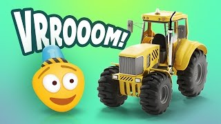 Kid's 3D Construction Cartoon : Build a Tractor I Learning Construction Vehicles for Kids