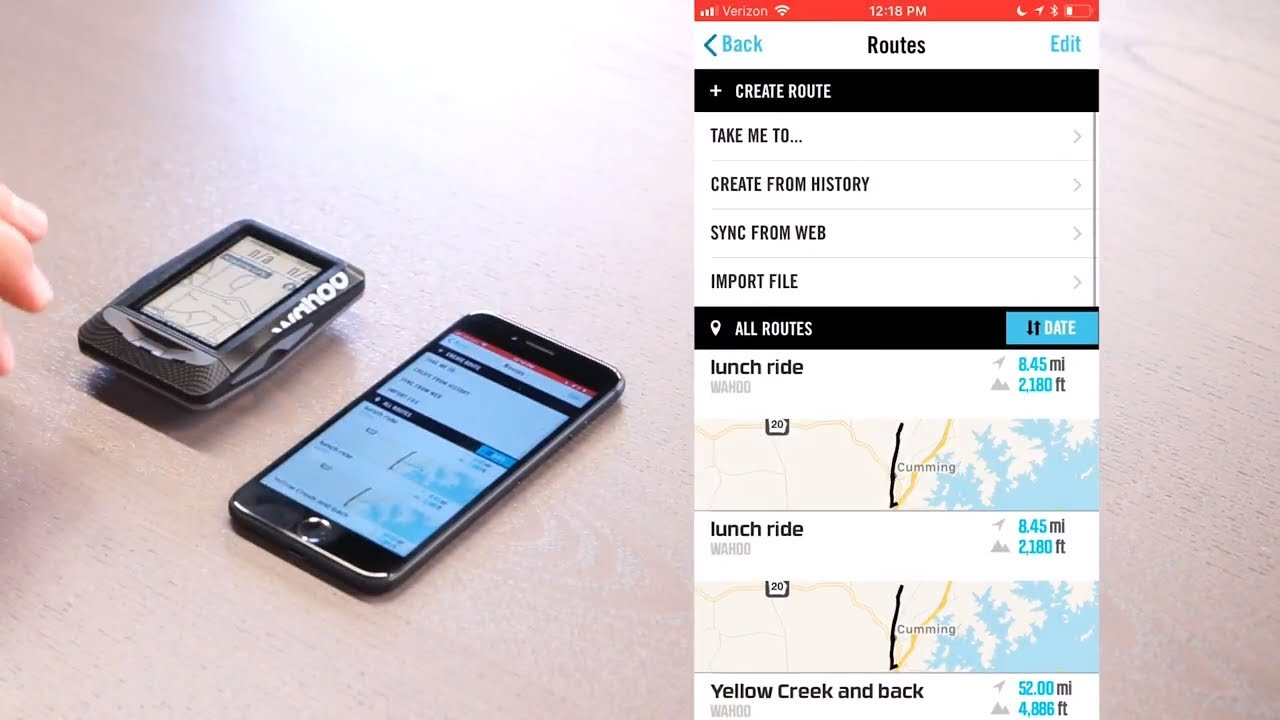 ELEMNT GPS Bike Computer - Using Route Navigation