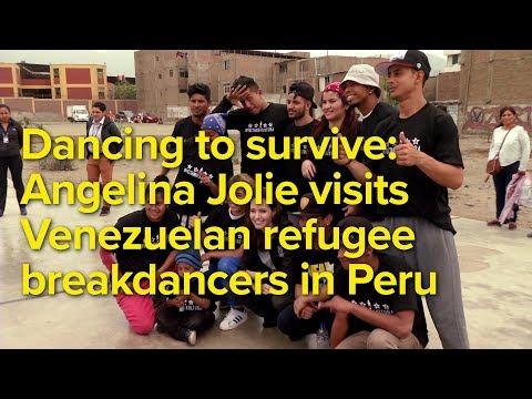 Dancing to survive: Angelina Jolie visits Venezuelan refugee breakdancers in Peru