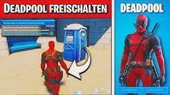 Fortnite: DEADPOOL SKIN freischalten! 👤 Betritt eine Telefonzelle/Baustellenklo: Deadpool | Detu