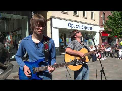 Holos And Gibson Busking City Centre Perth Perthshire Scotland