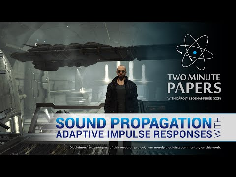Sound Propagation With Adaptive Impulse Responses | Two Minute Papers #95