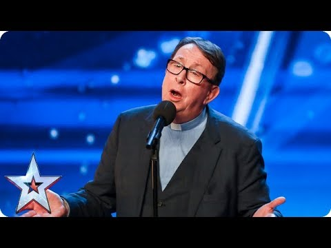 Father Ray Kelly takes us to church with AMAZING version of 'Everybody Hurts'  Auditions  BGT 2018