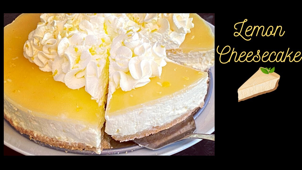No Bake Lemon Cheesecake Without Condensed Milk Youtube