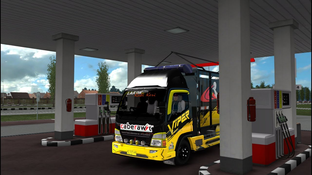 CANTER CABE IN ACTION - ETS2 MOD INDONESIA