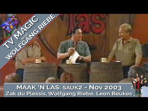 Maak n Las: November 2003: TV Kulkunstennaar Wolfgang Riebe