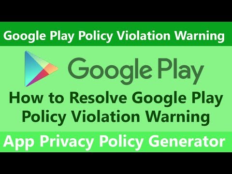 Google Play Policy Violation Warning | App Privacy Policy Generator | How to Solve IT