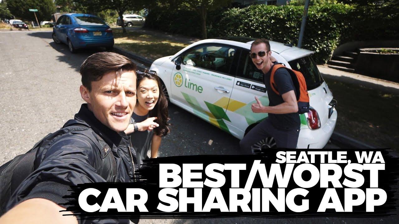Testing Lime Car Sharing App In Seattle Wa Youtube
