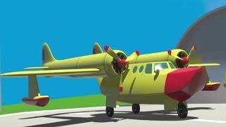 Uçaklar çocuklar için görev başında - Çizgi Film Animasyon.
