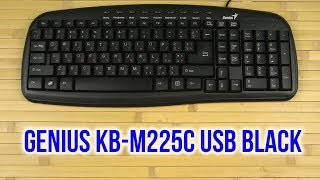 Розпакування Genius KB-M225C USB Black
