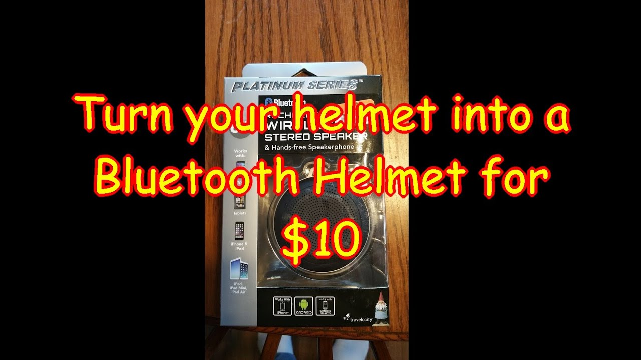4c8a76a1e32 $10 DIY built in bluetooth phone and music helmet with 10 hour music play  time!