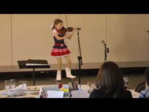 Hazel Keithahn (age 9)- Millionaire's Hoedown Violin with Dance