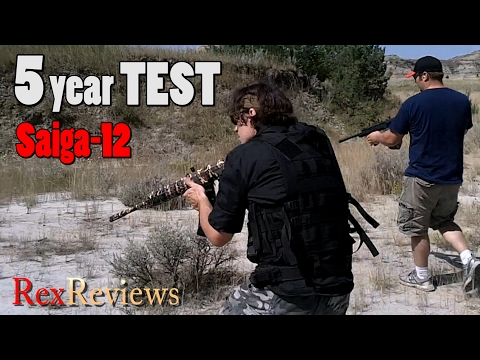 Saiga-12 ~ FIVE YEAR TEST! Best Magazines and Mods for Low-Brass Operation ~ Rex Reviews