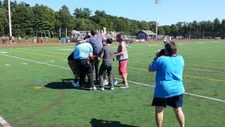 Kevin Sheehan wins halftime contest