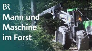 Technik und Handarbeit: Holzrücken im Frankenwald | Unser Land | BR Fernsehen