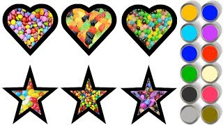 Drawing for Kids | Heart and Stars | Picture Coloring Pages | Learn to Draw for Kids