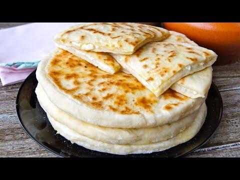Хачапури с творогом и сыром на кефире — видео рецепт