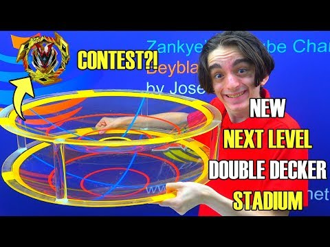 NEW HUGE DOUBLE DECKER STADIUM! + NAME CONTEST! | Beyblade Burst Super Z Chouzetsu ベイブレードバースト 超ゼツ