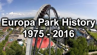 Europa Park History 1975 - 2016(Would you like to find out about the History of Europa Park in Germany? Then this is the video for you. This detailed look at what rides, attractions were added to ..., 2016-02-17T23:05:02.000Z)