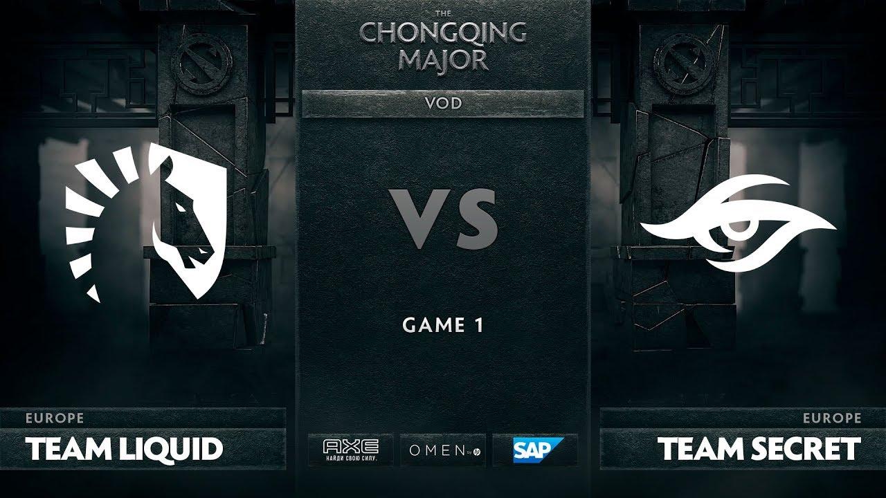 [RU] Team Liquid vs Team Secret, Game 1, The Chongqing Major UB Round 1