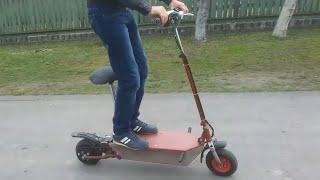 Самодельный електро скутер самокат