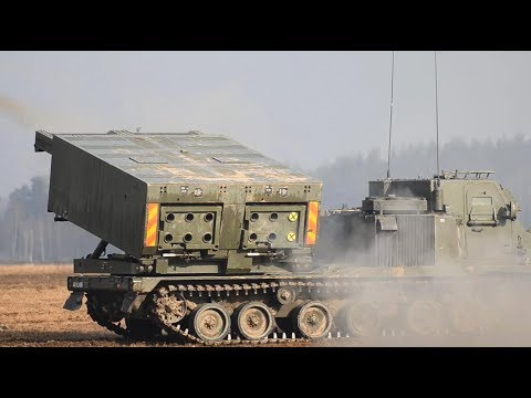 Extremely Powerful M270 MLRS & M142 HIMARS in Action / Live Firing