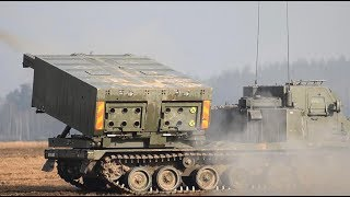 Extremely Powerful M270 MLRS & M142 HIMARS in Action / Live Firing thumbnail