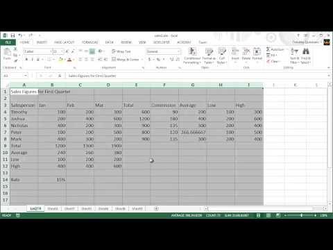 4 - Excel 2013 Course