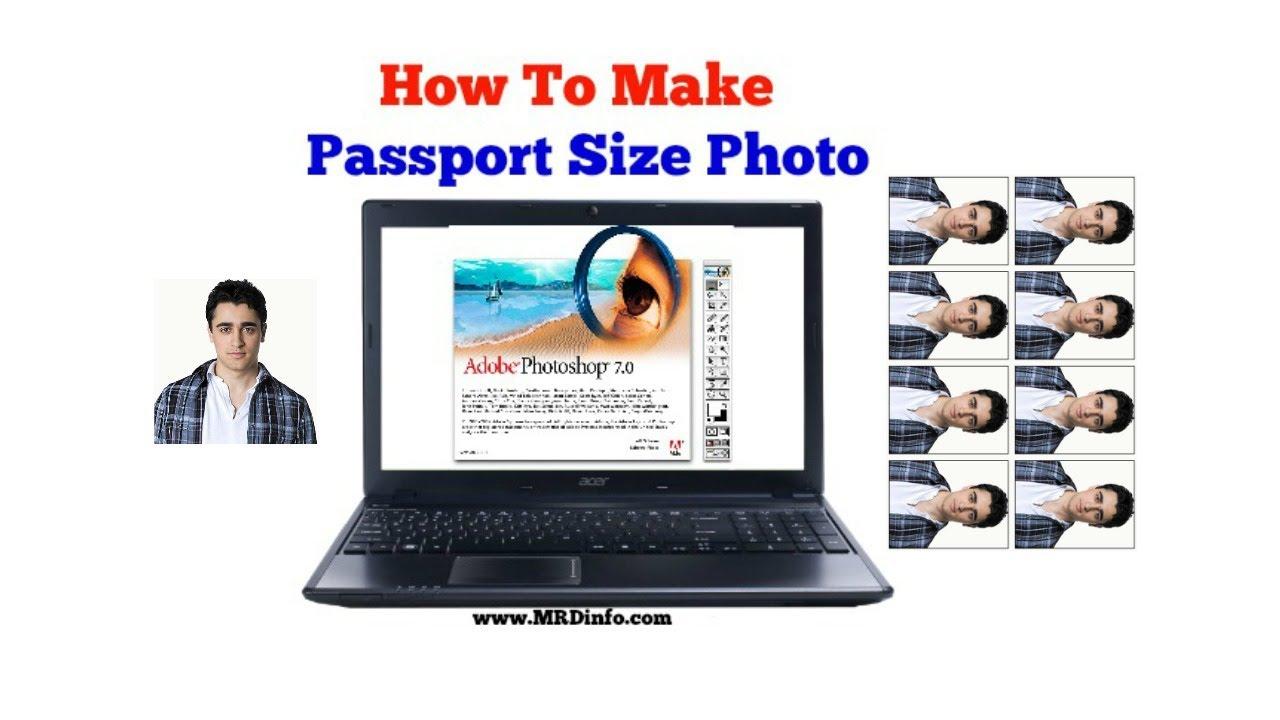 how to create passport size photo