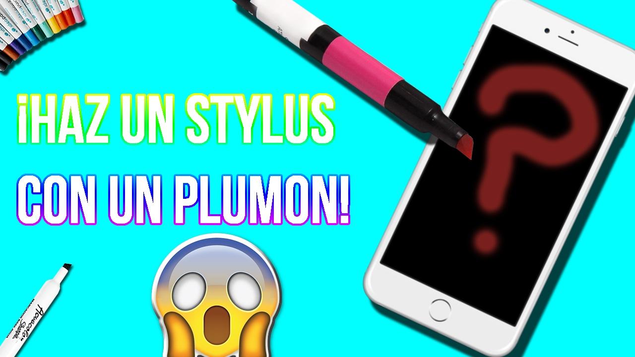 Como Hacer Un Stylus Casero Para Celular Utilizndo Un Plumón 2017 Youtube