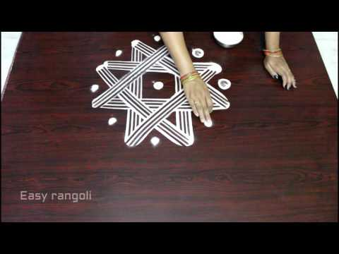 easy innovative way to draw sankranti dhanurmasam star designs || pongal kolam|easy rangoli designs