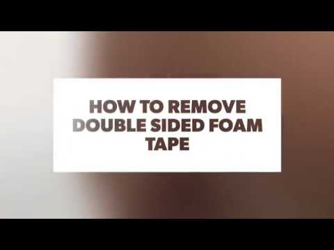 how to remove double sided foam tape easiest way youtube