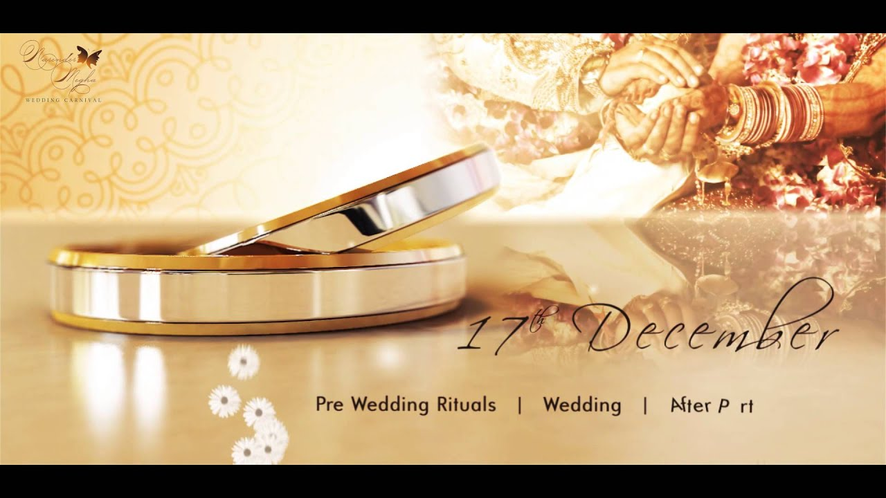 Wedding invitation video video invitation classy Married to design