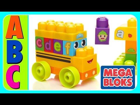 Learn ABC Alphabet With ABC MEGA BLOKS BUS! Fun Educational ABC Alphabet Video For Kids, Kindergarte