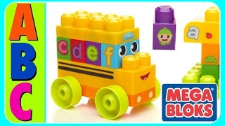 Learn ABC Alphabet With ABC MEGA BLOKS BUS! Fun Educational ABC Alphabet Video For Kids, Kindergarte