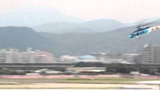 2011年8月13,日松山基地,S-70C直升機飛行及吊掛表演之一