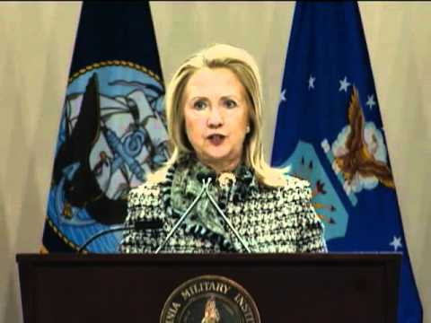 Secretary Clinton Receives the Distinguished Diplomat Award from the Virginia Military Institute
