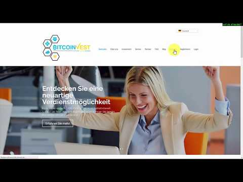 Bitcoinvest - Backoffice Deutsch Bitcoin Mining Cloud Mining