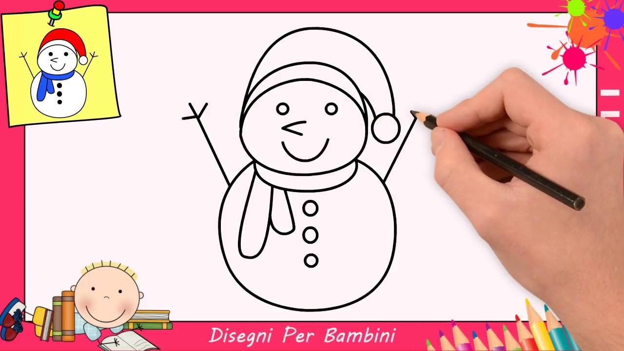Come Disegnare Un Pupazzo Di Neve Facile Passo Per Passo Per